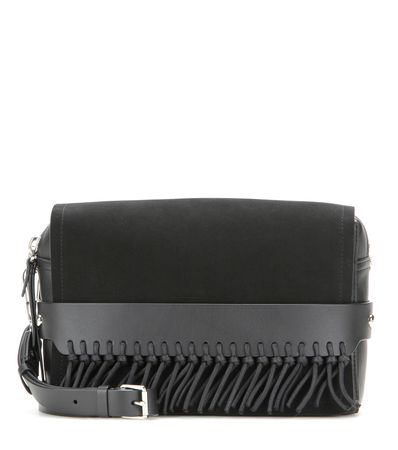 3.1 Phillip Lim Bianca Medium Suede And Leather Shoulder Bag gray