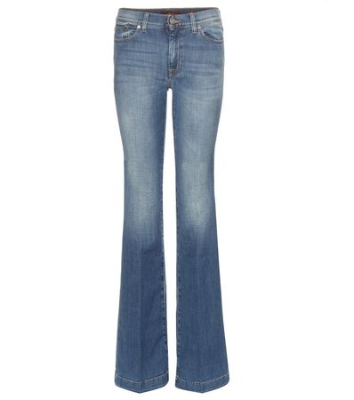 7 for all Mankind Charlize Flared Jeans gray