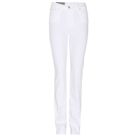 7 for all Mankind High-waist Straight-leg Jeans white