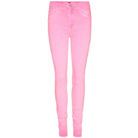 7 for all Mankind High-waisted Skinny Jeans pink