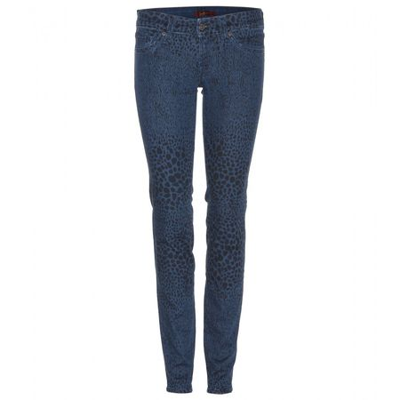 7 for all Mankind Printed Olivya Skinny Jeans gray
