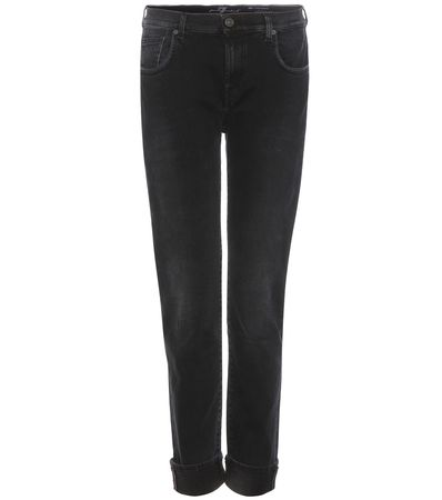 7 for all Mankind Relaxed Skinny Jeans black