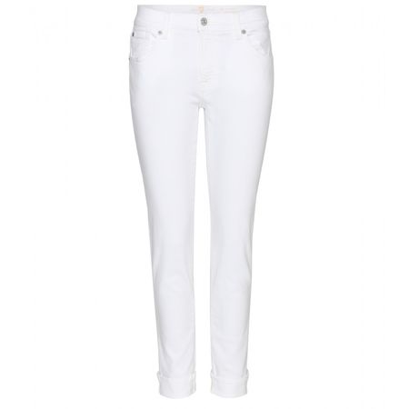 7 for all Mankind The Relaxed Skinny Boyfriend Jeans white
