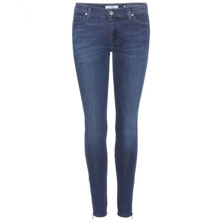 7 for all Mankind The Skinny Crop Jeans gray