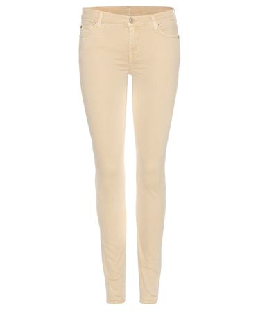 7 for all Mankind The Skinny Jeans beige