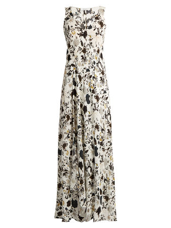 A.L.C. Harlan floral-print silk-crepe dress