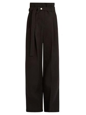 A.W.A.K.E. by Natalia Alaverdian Paperbag-waist wide-leg drill trousers