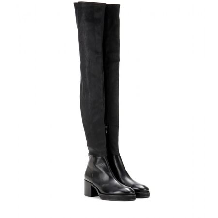 Acne Hiloh Over-the-knee Leather Boots black