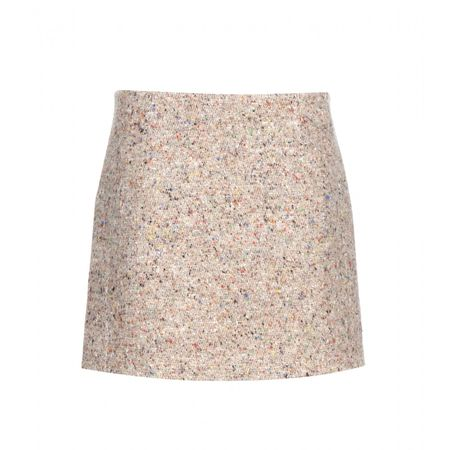 Acne Kyte Trash Wool-blend Miniskirt gray