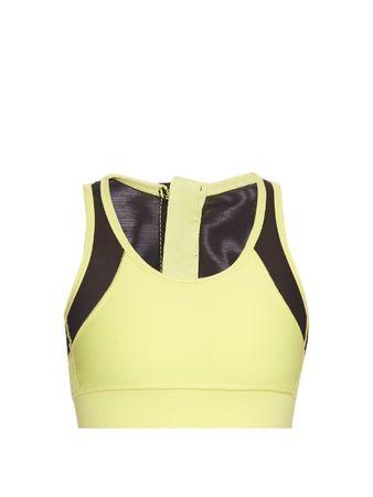 Alala Zip It Up mesh-panel performance bra yellow
