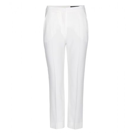 Alexander McQueen Crepe Trousers white