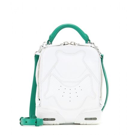 Alexander Wang Sneaker Leather Shoulder Bag white