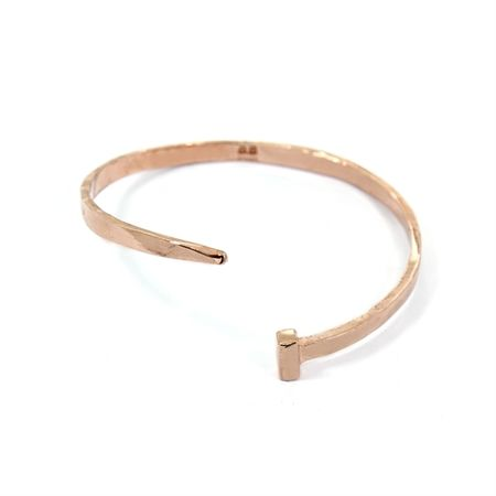 Alona Nail Bangle Rose Gold white