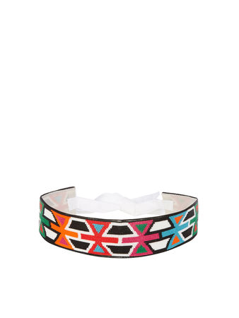 Andrew GN Geometric bead-embellished belt