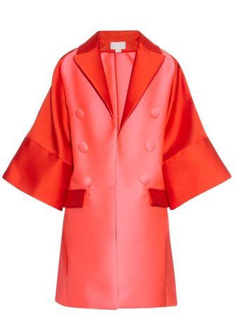 Antonio Berardi Bi-colour satin evening coat pink