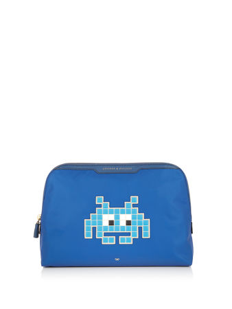 Anya Hindmarch Space Invaders Lotions & Potions pouch