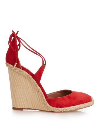 Aquazzura Karlie espadrille wedge heels brown