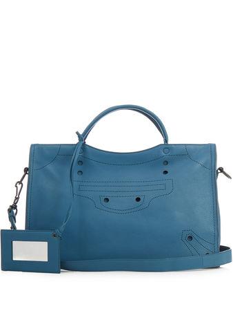 Balenciaga Blackout City medium leather bag