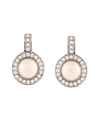 Balenciaga Faux-pearl and crystal earrings white
