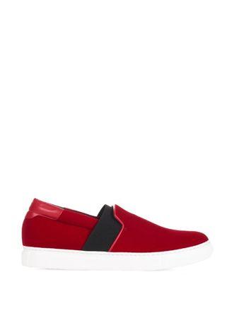 Balenciaga Velvet skate shoes white