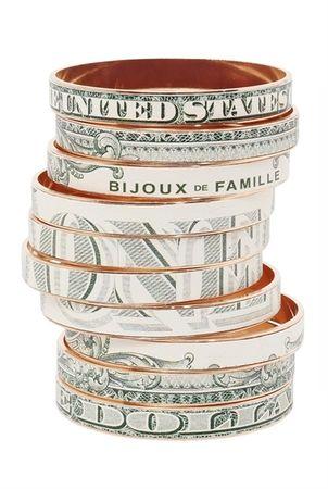Bijoux De Famille Crazy Dollar Bangles gray