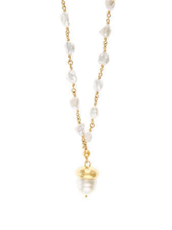 Brigid Blanco Pearl & yellow-gold necklace