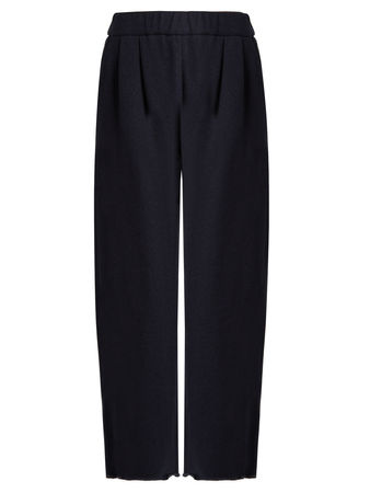Brunello Cucinelli Wide-leg cashmere and cotton-blend trousers