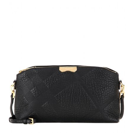 Burberry, London Chichester Small Embossed Leather Shoulder Bag black
