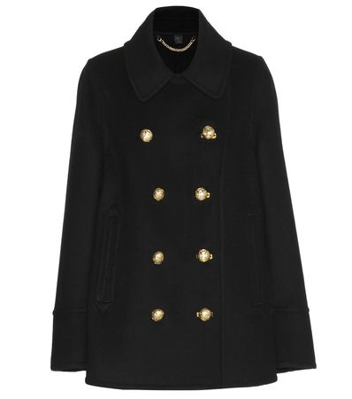 Burberry Prorsum Cashmere Coat black