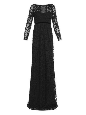 Burberry Prorsum Floral cotton-blend lace gown black