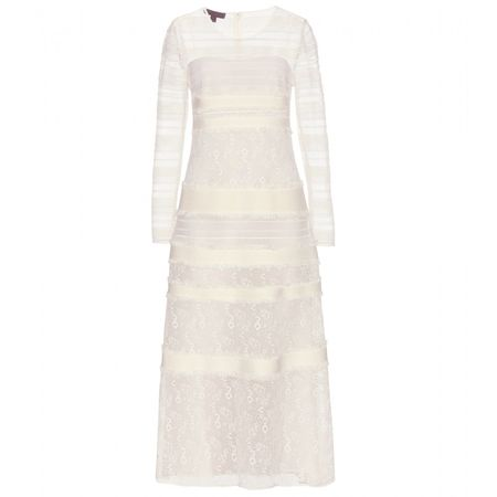Burberry Prorsum Lace Dress white