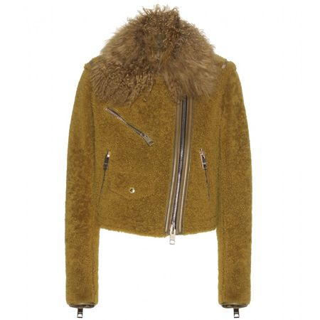 Burberry Prorsum Leather And Fur-trim Jacket brown