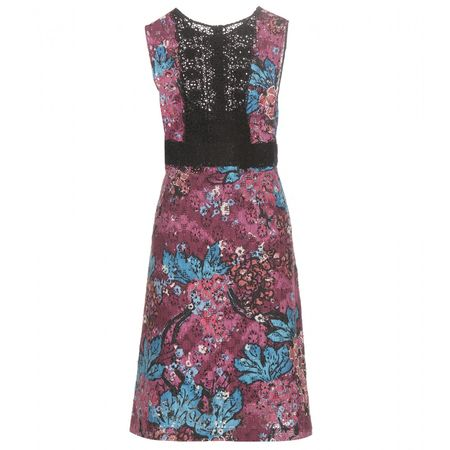 Burberry Prorsum Printed Lace Dress brown