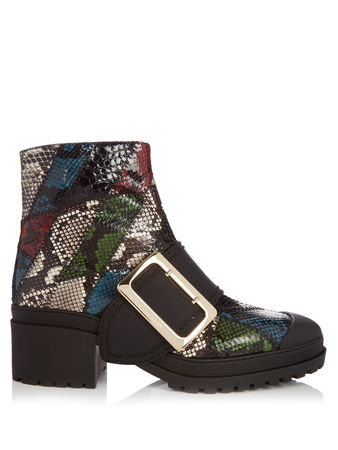 Burberry Prorsum The Buckle watersnake ankle boots