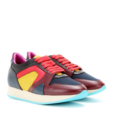 Burberry Prorsum The Field Leather Sneakers gray