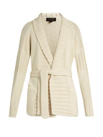 Burberry Prorsum Tie-waist cashmere cardigan