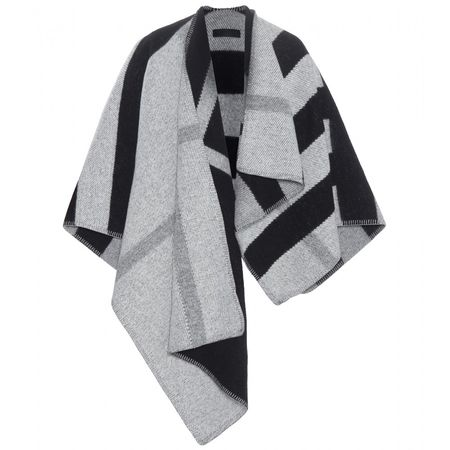 Burberry Prorsum Wool And Cashmere Poncho gray