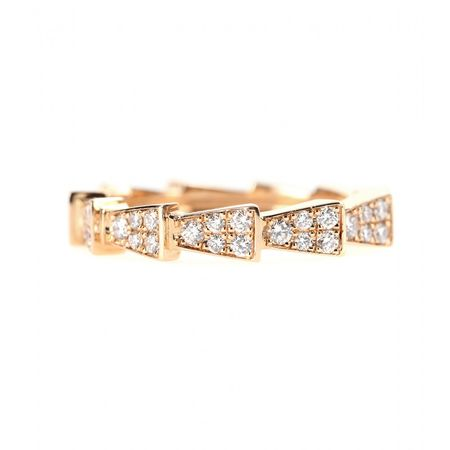 Cada Small Ixxo 18kt Rose Gold Ring With White Diamonds white
