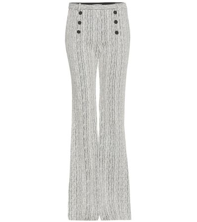 Carven Fantasy Flared Trousers gray