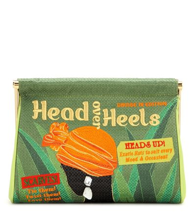 Charlotte Olympia Head Over Heels Maggie Clutch green