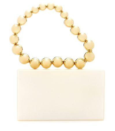 Charlotte Olympia Necklace Pandora Handbag beige