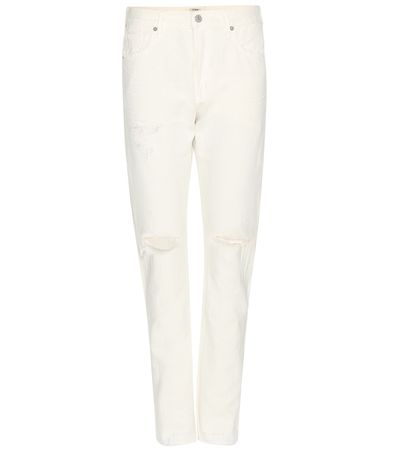 Citizens of Humanity Corey Slouchy Slim Jeans white