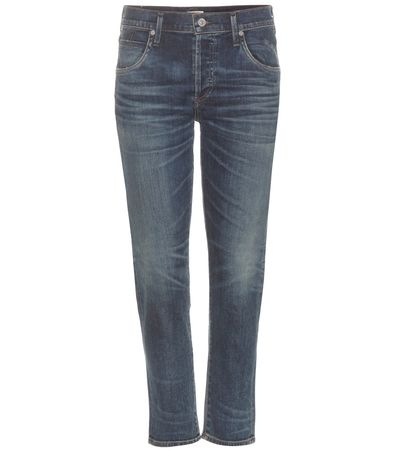 Citizens of Humanity Elsa Mid-rise Cropped Slim Jeans gray
