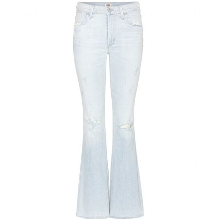 Citizens of Humanity Fleetwood High-rise Flared Jeans white