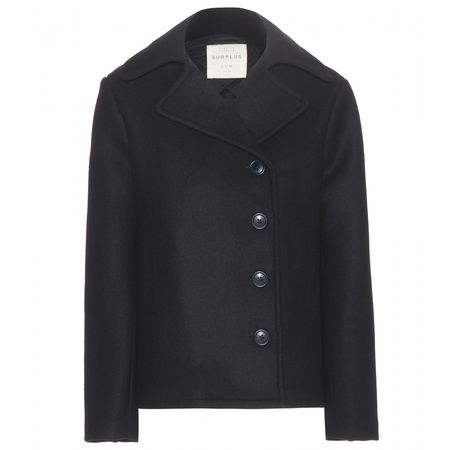 Citizens of Humanity Wool And Cashmere-blend Pea Coat black
