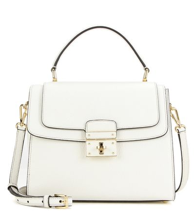 Dolce & Gabbana Greta Leather Shoulder Bag white