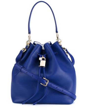 Dolce & Gabbana Leather Bucket Bag blue