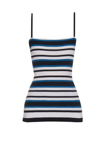 Dolce & Gabbana Striped ribbed-knit top black