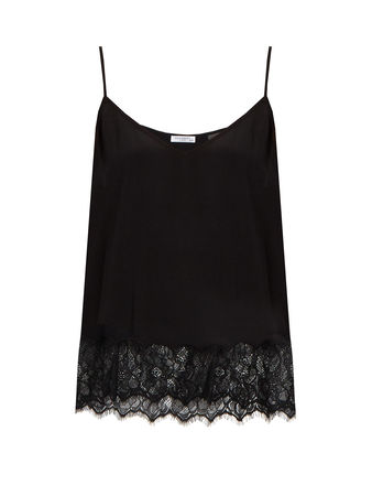 Equipment Layla lace-trimmed silk cami top