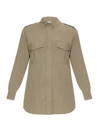 Equipment Major silk shirt gray